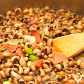 Hoppin John's Beans & Rice+White Wine Braised Mushrooms