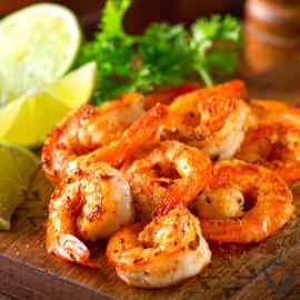 Moroccan Spiced Shrimp+Warm Couscous Salad