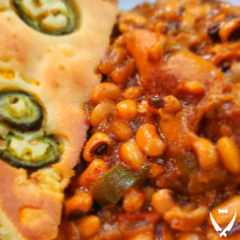 African Beans and Jalapeno Cornbread